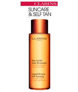 Clarins Liquid Bronze Self Tanning Refreshes, Softens for Face and Decollete