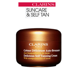 Clarins Delicious Self Tanning Cream with Unsaponifiables of Cocoa