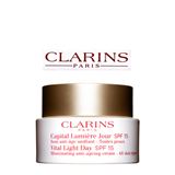 Clarins Vital Light Day SPF 15 Illuminating Anti-Ageing Cream – All Skin Types