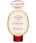 Clarins Eau Dynamisante Shower Gel Cleanses Refreshes Tones