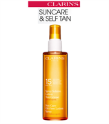 Clarins Sun Care Oil-Free Lotion Spray for Outdoor Sports Moderate Protection SPF 15