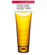 Clarins Sun Care Cream Moisturizes, Age-Control Moderate Protection SPF 20
